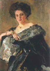 Valentin SEROV. Portrait of Yevdokia Sergeevna Morozova. 1908