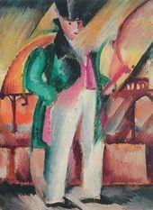 Zygmunt WALISZEWSKI. Gentleman in a Green Tail-Coat. 1922