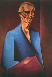 Mieczyslaw SZCZUKA. Self-portrait with Palette. 1920