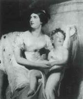 Thomas LAWRENCE. Countess Charlemont and her son. Fragment of family group painted in 1810