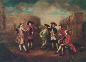 James RUSSEL. British Connoisseurs in Rome. c. 1751