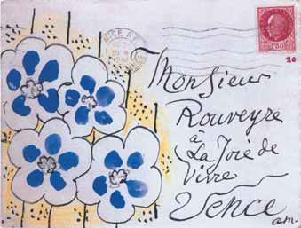 Envelope of Henri Matisse's Letter to Andre Rouveyre, dated February 10, 1943