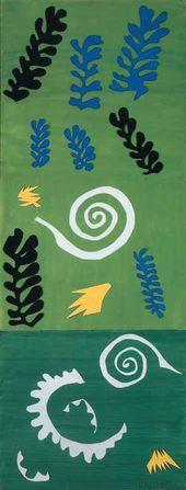 Henri MATISSE. Composition in Green. 1947