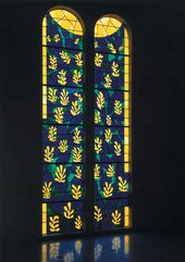 Tree of Life. Stained-glass window in the Dominican Order Chapel, Vence