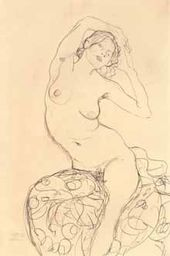 Seated Nude with Arms Crossed behind Her Head. c. 1915