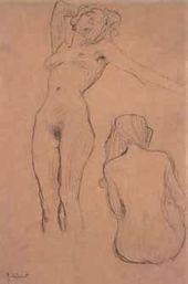 "Two Nudes, sketch for ""Medicine"". c. 1901"
