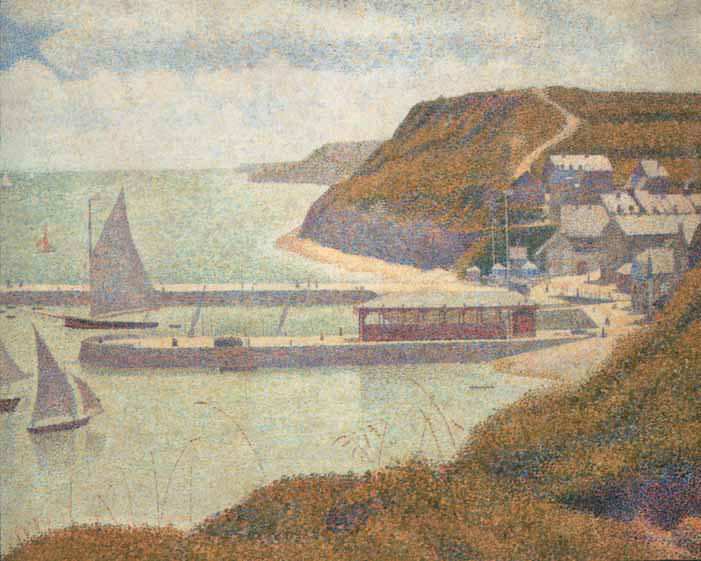 George SEURAT. Port-en-Bessin. Harbour. Tide. 1888