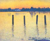 Theo Van RYSSELBERGHE. Sailing Boats in Escaut. 1892