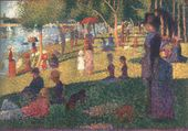 """George SEURAT. Study for the Painting """"Summer Sunday Afternoon on the Island of Grande Jatte"""". 1884–1885"""