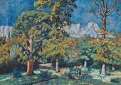 The Crimea. The Park in Alupka. 1923