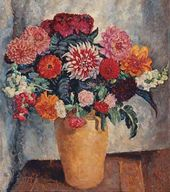 Bright Bouquet Against Dark Background. 1936