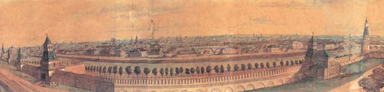 Panorama of Zamoskvorechye from the Kremlin Hill. 1807