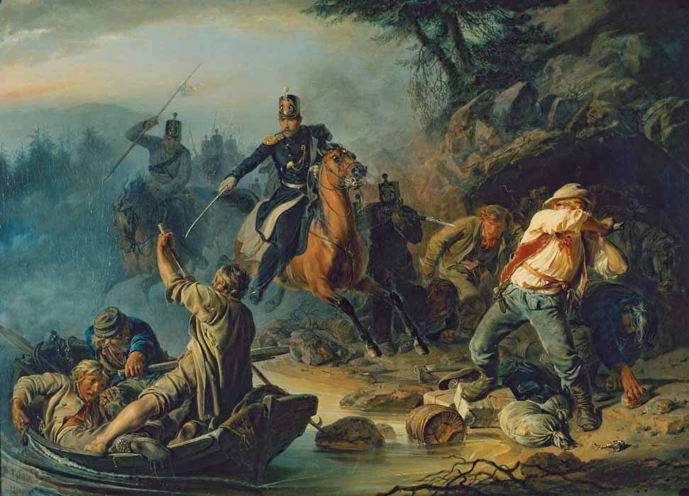 Armed Clash with Finnish Smugglers. 1853