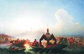 Queen Suyumbike Leaving Kazan 1870