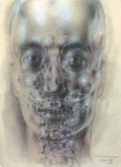 Pavel TCHELITCHEW. Interior Landscape VII (Skull). 1949