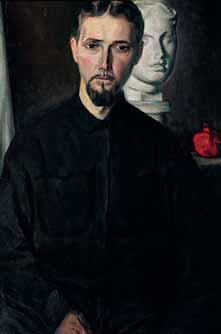 Nikolai CHERNYSHEV. Self-portrait with a Venus. 1933