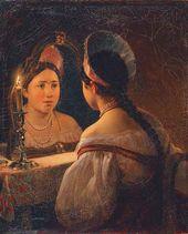 Karl BRYULLOV. Svetlana the Fortune-teller. 1836