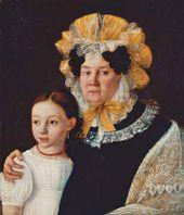 Ivan GORBUNOV. Grandmother and Granddaughter. 1831