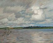 Isaak LEVITAN. Lake. Gloomy Afternoon. A study. 1895 (?)