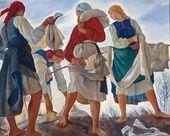 Zinaida SEREBRYAKOVA. Bleaching the Linen. 1917