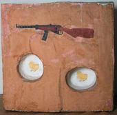 Ilya KABAKOV. Machine-gun and chickens. 1966