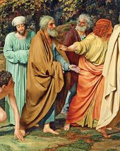 The Appearance of Christ to the People. 1837–1857. Four Apostles. Detail