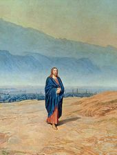 The Appearance of Christ to the People. 1837–1857. The figure of Christ and the landscape behind him. Detail