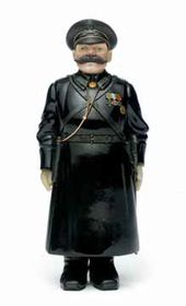 Lot 46. An Important Faberge Hardstone Figure of a Policeman, St. Petersburg, circa 1910