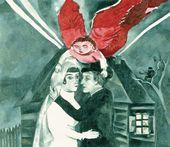 Marc CHAGALL. La Mariage. 1918