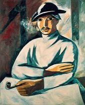 Natalia GONCHAROVA. Smoker. 1911