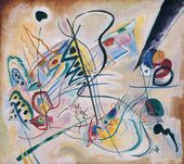 Vasily KANDINSKY. Musical Overture. Violet Wedge. 1919