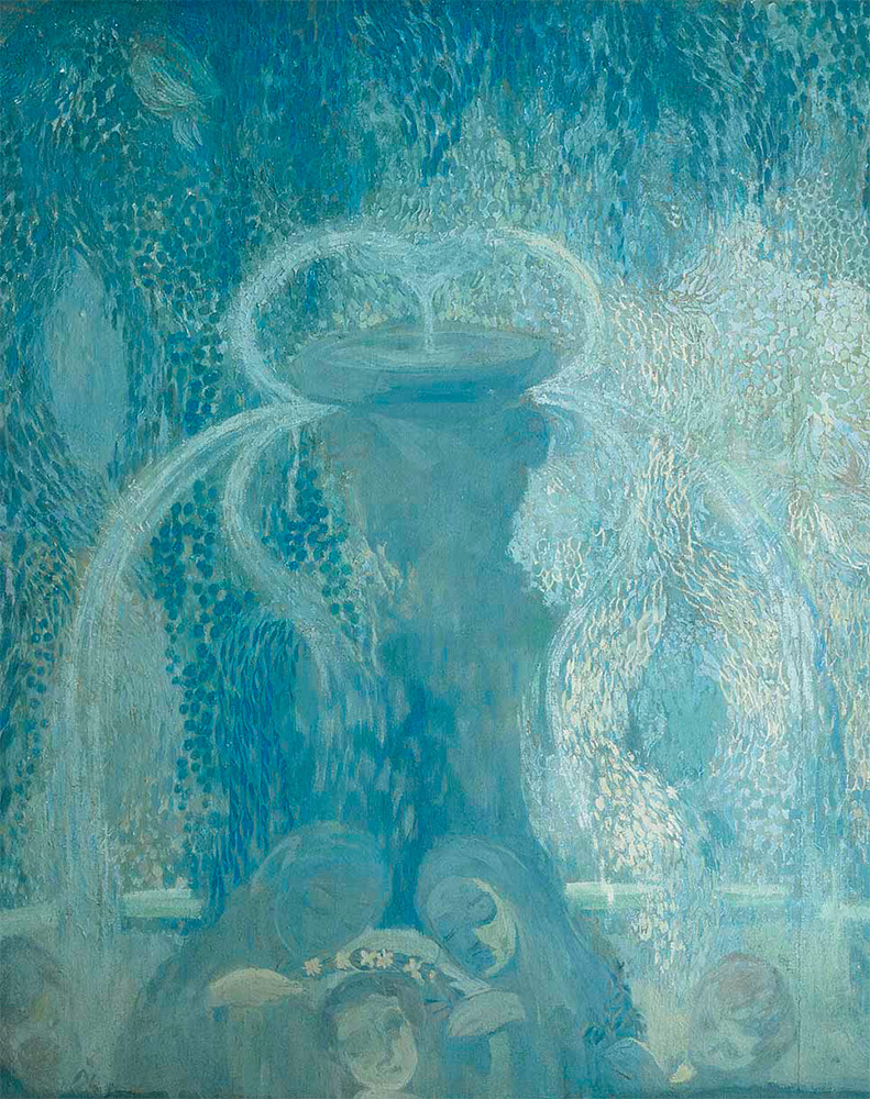 Pavel KUZNETSOV. The Blue Fountain. 1905. Detail