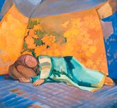 Pavel KUZNETSOV. Woman Sleeping in Koshara. 1911