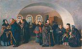 Vladimir MAKOVSKY. The Treasury on Pension Distribution Day. 1876