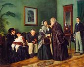 Vladimir MAKOVSKY. In the Doctor's Waiting Room. 1870