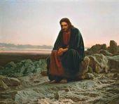 Ivan KRAMSKOY. Christ in the Wilderness. 1872