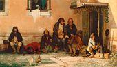 Grigory MYASOEDOV. Zemstvo (Country-states) Clerks at Dinner. 1872