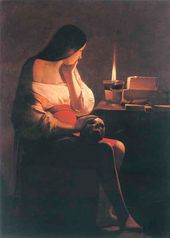 Georges de LA TOUR. Magdalene with a Lamp. C. 1640–45