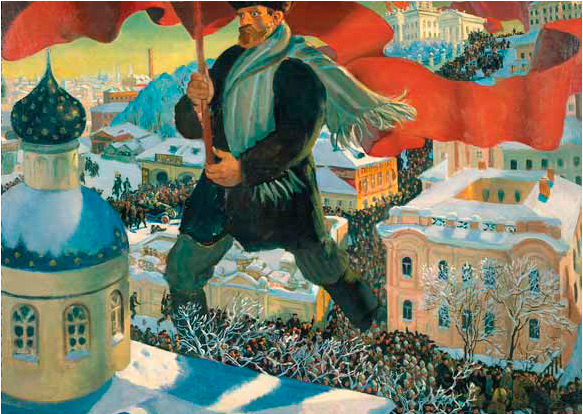 Boris KUSTODIEV. The Bolshevik. 1920