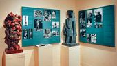 The Jacques Lipchitz Collection Gallery. Installation View, Portrait Heads