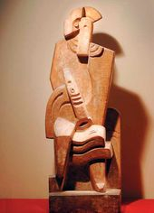 Jacques LIPCHITZ. Seated Harlequin with Clarinet. 1919–20