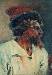 Vasily SURIKOV. Strelets in a hat. Study. 1879