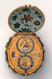 Watch with calendar. Mechanism: Geneva, mid 17th century; body frame: Istanbul, mid 17th century
