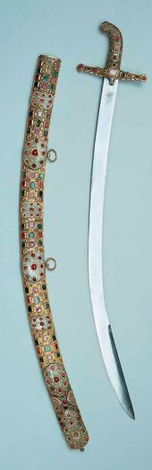 Sabre of the Grand. Set in a Case Istanbul, before 1656