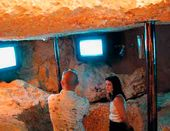 The museum's video exhibition space at the pit
