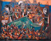 Marcel JANCO. Immigrant Ship. 1945