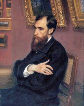Ilya REPIN. Portrait of Pavel Tretyakov. 1883