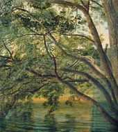 Alexander IIVANOV. A Tree at the Side of Lake Nemi