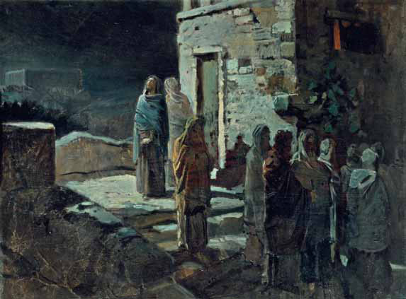 Nikolai GHE. Christ and His Disciples Going Out from the Last Supper into the Garden of Gethsemane. 1888
