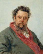 Ilya REPIN. Portrait of Modest Musorgsky. 1881